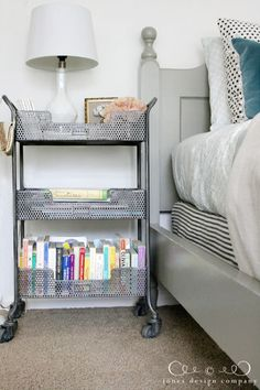 metal cart for nightstand