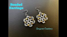 How to make beaded Earrings Such an Awesome Tutorial - JEWELRY Seed Bead Jewelry, Seed Bead Earrings, Diy Earrings, Beaded Jewelry, Handmade Jewelry, Beaded Bracelets, Hoop Earrings, Jewelry Crafts, Tutorials