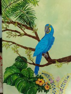 Parrot Painting, Painted Shells, Mermaid, Bird, Animals, Animales, Animaux, Birds, Animal