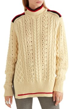 Shop on-sale Isabel Marant Edison oversized cable-knit wool-blend sweater. Browse other discount designer Knitwear & more on The Most Fashionable Fashion Outlet, THE OUTNET.COM