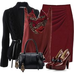 Burgundy Loafers, created by daiscat on Polyvore