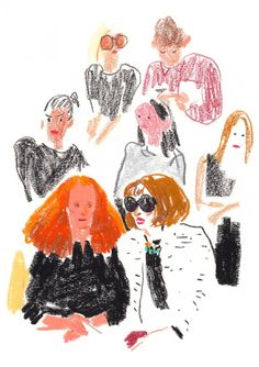 Vogue Illustration: Damien Cuypers London Fashion Week