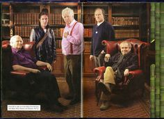 Colin Baker, Paul McGann, Tom Baker, Peter Davison and Sylvester McCoy - Publicity image for the Big Finish Audio 50th Anniversary story The Light At The End.