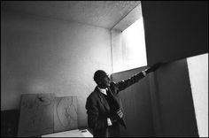 RENE BURRI, Luis BARRAGAN, Mexican architect, at home, 1969