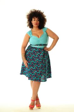 Great fit// 2014 runway women's fashion pinterest for plus size | ogale lace and ankara dress