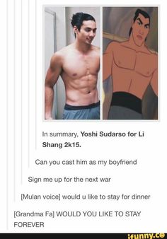 Oh my gosh it's Shang in real life!