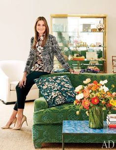 Aerin Lauders office designed by Jacques Grange via AD