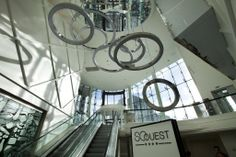 Interior view of the So Ouest mall in France.