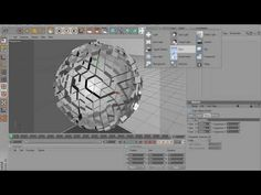 Tutorial | How To Make An Abstract Sphere Using Cinema 4D - YouTube