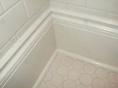 Bathroom Amazing Tile Or Wood Baseboard In Bathroom Images Home inside Bathroom Baseboard Tile Or Wood : Bathroom Baseboard Tile Or Wood – Design Idea and Decors Bathroom Baseboard, Tile Baseboard, Baseboard Styles, Baseboards, Bathroom Flooring, Baseboard Ideas, Bathroom Moulding, Mold In Bathroom, Bathroom Tile Designs