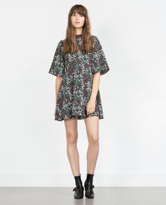 ZARA - WOMAN - MULTICOLORED DRESS WITH FLARED SLEEVES