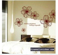 [ Diy Mural Decals Decor Home Art Removable Wall Sticker Flowers Wall Wall Decal Sticker Art Mural Home Decor Room Bedroom Decor Diy Green ] - Best Free Home Design Idea & Inspiration Removable Wall Stickers, Wall Stickers Murals, Wall Decal Sticker, Living Room Bedroom, Diy Bedroom Decor, Decor Room, Home Decor, Promotional Stickers, Flower Wall Stickers