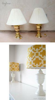 Lamp Makeover for Master Bedroom   #diy #beforeafter