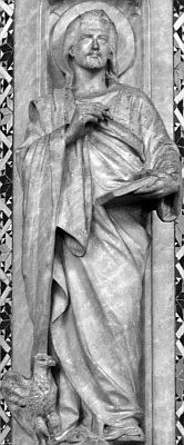 photograph of a statuette on the ambo in Westminster Cathedral, London; swiped with permission from the flickr account of Brother Lawrence Lew, OP