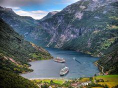 Fiordo Geiranger, Noruega.