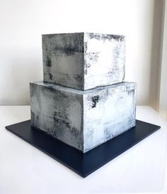 """Concrete cake"" @ivyandstonecakedesign • 4,811 likes"