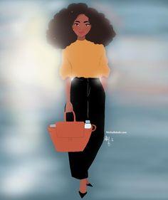 Sweet Solar November girl First post of November . (à France, Paris) Black Girl Cartoon, Black Girl Art, Black Women Art, Black Girl Magic, Art Girl, Black Art Pictures, Natural Hair Art, Black Characters, Black Artwork