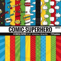 Papeles digitales de cómic-súper héroes  Fondos con por eltendedero