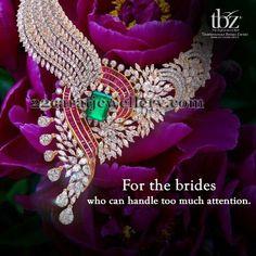Jewellery Designs: Sparkling Diamond Set by TBZ
