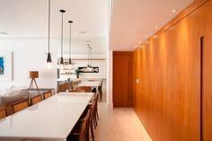 sala de jantar - dinning room - painel de madeira - marcenaria - interior design - Studio 021 Arquitetura - Js Marcenaria