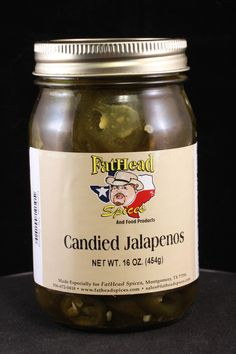 Candied Jalapenos - another one of our new food products.  These are great mixed with cream cheese and served with crackers.  We like triscuits because they don't break as easy when dipping.  #fatheadspices #candiedjalapenos #jalapenos #cooking