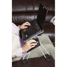 LAP 001  /  MESA DE TRABAJO MANYARA (Incluye porta vasos y porta lápices.) Accesorios de Computo PromoOpción® - Evolución en Promocionales #Laptop #Tecnología #Mesa