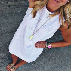 Preppy Miss Nicky Preppy Mode, Preppy Style, Style Me, White Shift Dresses, White Dress, Cream Dresses, Summer Outfits, Cute Outfits, Bold Logo