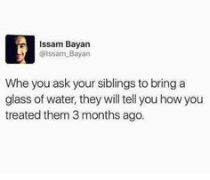 Karma: 21 Pictures That Are Way, Wayyyyy Too Real For People With Siblings Really Funny Memes, Stupid Funny Memes, Funny Facts, Haha Funny, Hilarious, Sibling Quotes, Sibling Memes, Funny Relatable Memes, Funny Tweets
