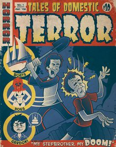 Step Brothers inspired Horror Comics 11' x by SDerbyIllustration