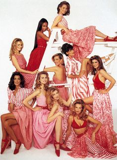 The end of the supermodel era, no other models come close to my gals! Supermodels #90s #supermodels