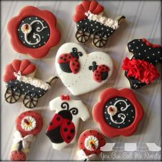 """#tbt #decoratedcookies #decoratedsugarcookies #decoratedcustomcookies #customsweets #customcookies #customdecoratedcookies #cookielove #cookieart #edibleart #handpainted #sugarart #ladybug #ladybugs #BabyShower #BabyShowerCookies"" Photo taken by @youcancallmesweetie on Instagram, pinned via the InstaPin iOS App! http://www.instapinapp.com (07/16/2015)"