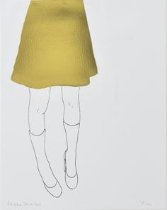 ARTFINDER: Gold Skirt by Natasha Law -