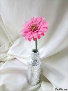 гербера из холодного фарфора фото