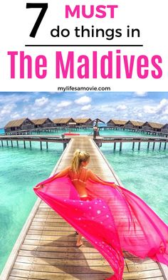 Crystal clear water rolling up onto white sandy beaches is just a fraction of the things you can look forward to experiencing in the Maldives! Here are 7 of the things I recommend you check out during your time in the Maldives. These activities can also help you while planning your trip to the Maldives. #maldives #beach #funvacation #holiday