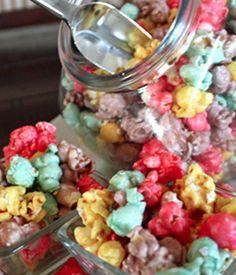 Colored Caramel Popcorn.