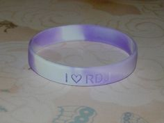 I (Heart) RDJ Robert Downey Jr Lavender and White Swirl Bracelet
