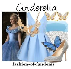 """""""Cinderella"""" by fofandoms ❤ liked on Polyvore featuring Lipsy, Stephen Webster, Charlotte Russe, Kate Spade and Ruby Rocks"""
