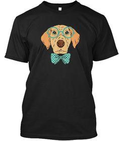 Smart Golden Retriever T Shirt Black T-Shirt Front