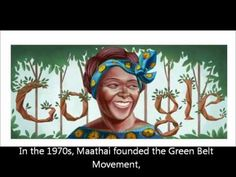 Wangari Maathais 73rd Birthday Google Doodle Logo