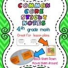 Common Core Standards - Math- 4th Grade  You might already be hanging common core posters in your classroom, but why not add some to your lesson pl...