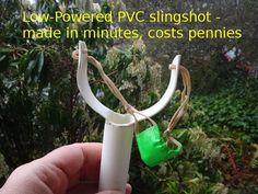 Picture of Simple PVC slingshot for pennies Pvc Pipe Crafts, Pvc Pipe Projects, Welding Projects, Crafts For Boys, Diy For Kids, Diy Slingshot, Wood Router, Wood Lathe, Cnc Router