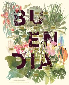 This is an illustrated map of the Buendia Family, depicted in 100 Years of Solitude by Garcia Marquez. Hundred Years Of Solitude, Botanical Illustration, Typography Design, Lettering, Art Direction, Book Worms, Book Art, My Books, Graphic Design