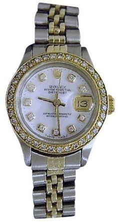 Rolex Datejust Two Tone 14K Yellow Gold & Stainless Steel Womens Watch  https://api.shopstyle.com/action/apiVisitRetailer?id=612384848&pid=uid8721-33958689-52
