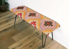 Combine the bold print with hairpin legs. DIY. 20 Mid-Century Modern DIYs for Instant Style via Brit + Co