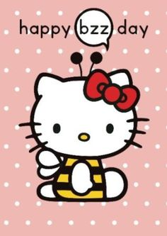 Hello Kitty Happy Bzz Day Greeting Card