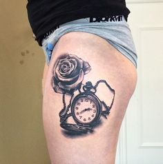 Hunter-Case Pocket Watch Tattoo by Jane Medusa