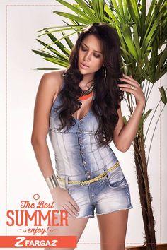 Macaquinho jeans Fargaz