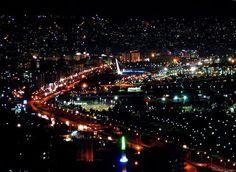 Samsun, Turkey by night.