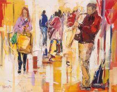 Compras com música | 2015 acrílico s/ tela | 110 x 140 cm Dagoberto Silva