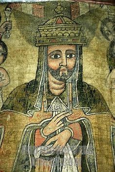 This is King Lalibela. He was king of Ethiopia. He is considered a saint by the Ethiopian church because of his attempts so keep Christian traditions and religion around.